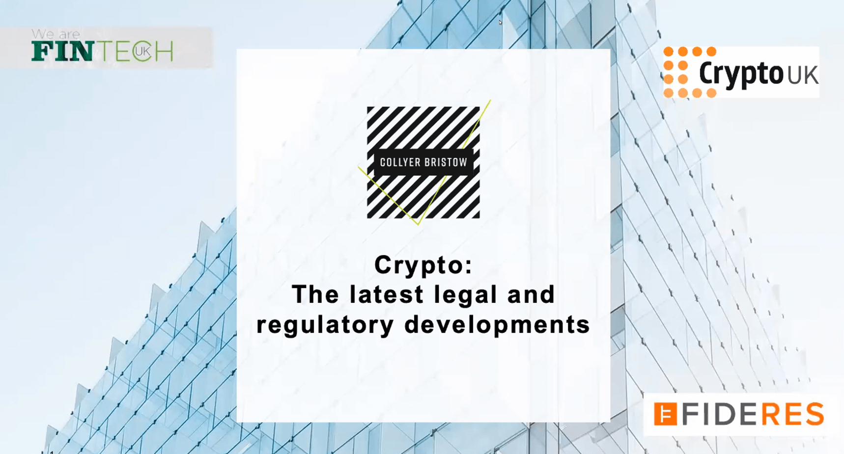 A webinar update on the latest legal and regulatory changes in crypto