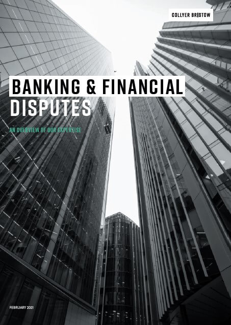 Find out more about our Banking & Financial Disputes service.